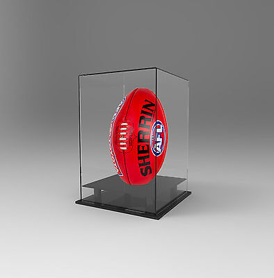 Football AFL Ball Acrylic Perspex Display Case Vertical Upright Signed Autograph