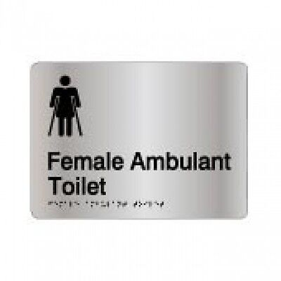 Braille Signage - AMBULANT FEMALE TOILET