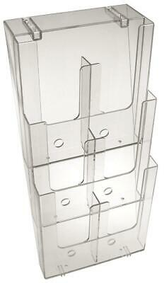 Taymar DL, Wall Mounted, 6 Pocket, Brochure Holder with divider - 3W230-D3