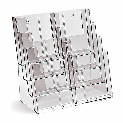 Taymar A5, 8 POCKET - 4 TIER ACRYLIC BROCHURE HOLDER FREESTANDING - 4C330-D4