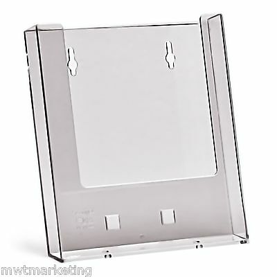 Taymar A4, SINGLE POCKET - ACRYLIC BROCHURE HOLDER WALL MOUNTED - W230