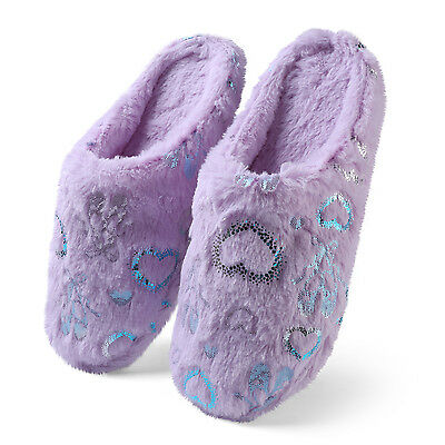 6f02753c9d5b Size 6-9 Aerusi Girl Fashion Winter Indoor Shoes House Warm Soft Slipper  Purple