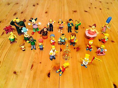 """SIMPSONS FIGURES """" JOBLOT X 24  inc RARE GOLD HOMER COLLECTABLE"""