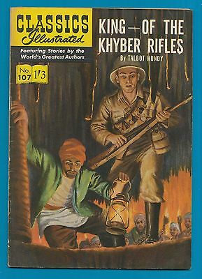 Classics Illustrated Comic  # 107  King of the Khyber Rifles   #360