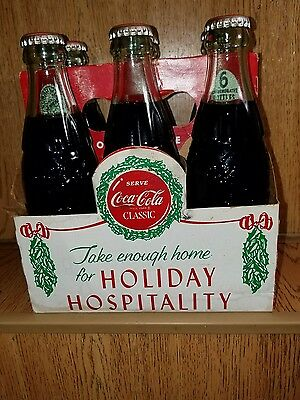 Coca-Cola Holiday Hospitality 6 Pack Unopened Vintage 1988