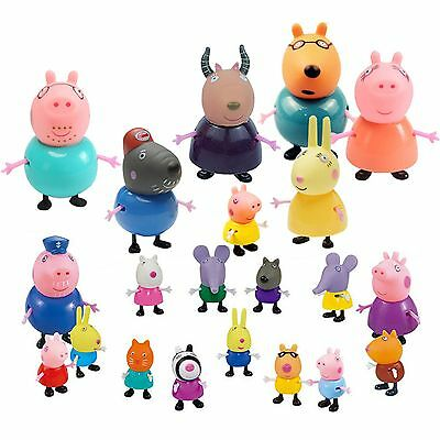 21 Pcs Peppa Pig Family&Friends Emily Rebecca Suzy Action Figures Toys Kids Gift