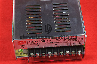 Regulated Switching Power Supply S-350-12 Input 110/220VAC Output 12VDC 29A 350W