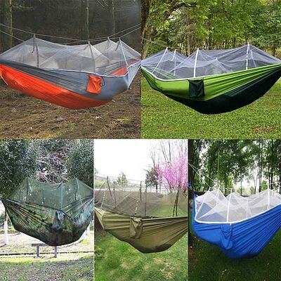 Bed Outdoor Camping Mosquito Net Nylon Hammock Hanging Bed Sleeping Swing Bed