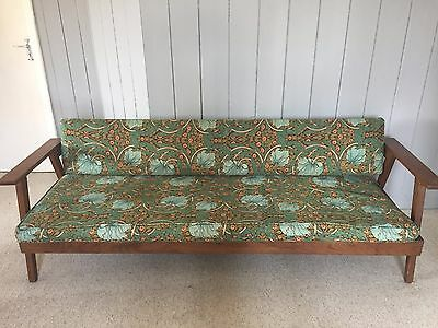 Mid Century Sofa Day Bed - Liberty Style Fabric / Danish Style / Retro / Vintage