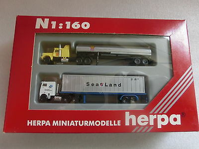 Spur N 1:160 Herpa 6502 US Trucks Shell und SeaLand in OVP (RC 1/7)