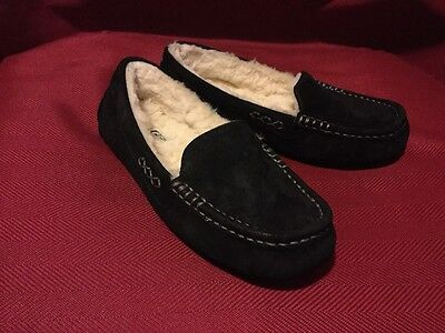 UGG Australia Women's Ansley Slippers Black Suede Casual shoes Sz  5