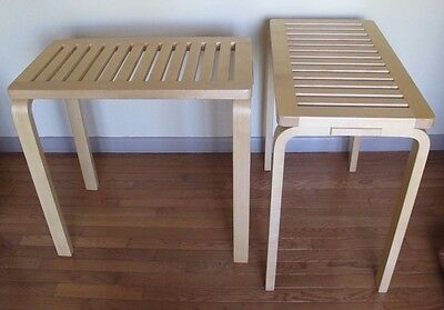 PAIR OF ALVAR AALTO CONSOLE TABLES for ARTEK mid century danish modern