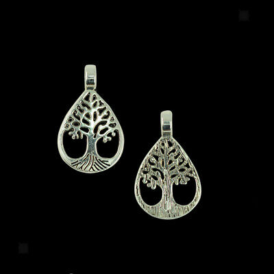 20pcs/Lot Antique Silver Tree of Life Beads Hollow Charms Pendants DIY Gift
