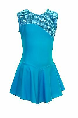 Skating Dress -KINGFISHER LYCRA / Metalic top NO SLEEVE ALL SIZES AVAILABLE