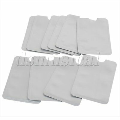10pcs RFID Blocking Sleeve Credit Card ID Anti Theft Holder Secure Protector