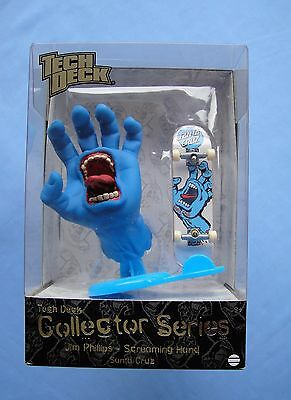2009 Tech Deck   SANTA CRUZ  Jim Phillips Screaming Hand Figure and Skateboard