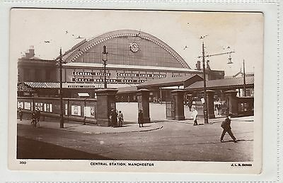 Central Railway Station Manchester unused RP Postcard early 1900s