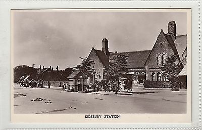 Didsbury Railway Station Manchester RP Postcard early 1900s