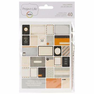 Project Life Themed Cards 40/Pkg Halloween