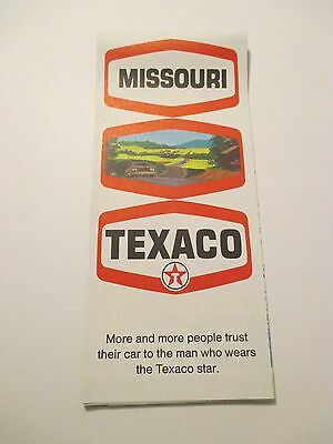 Vintage 1970 TEXACO Missouri Oil Gas Service Station State Road Map