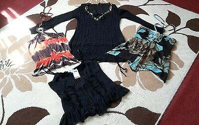 size 12 bundle of womens tops