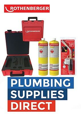Rothenberger Plumbers HotBox with Tools Superfire2 / x2 Mapp 1.8056