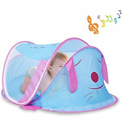 Portable Crib Netting Baby Travel Bed With Music Mosquito Net Foldable Infant