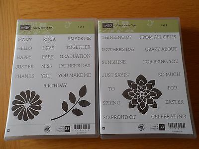 Stampin Up Crazy About You wooden stamp set