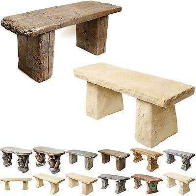 Melmar Stone Garden Bench / Seat - Perfect Gift - Hand Made In The UK