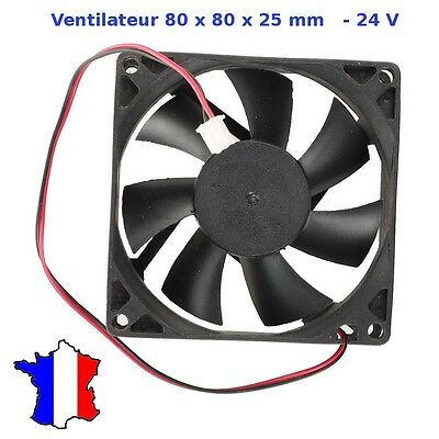 VENTILATEUR 24V  dc 80X80X25mm - brushless dc fan - ventilateur axial