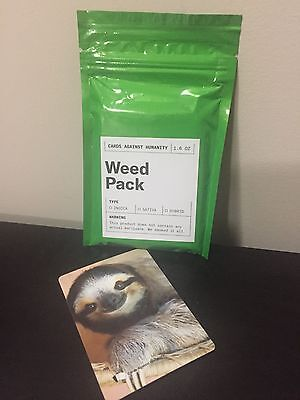 Cards Against Humanity Limited Edition Weed Pack + Sloth Card
