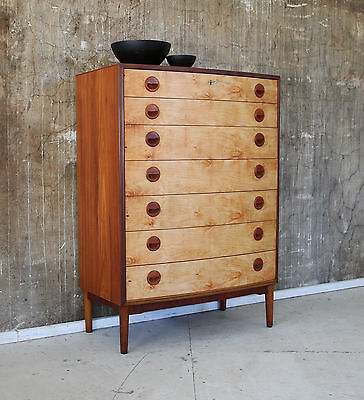 60er TEAK HIGHBOARD KOMMODE DANISH 60s CABINET CHEST OF DRAWERS KAI KRISTIANSEN