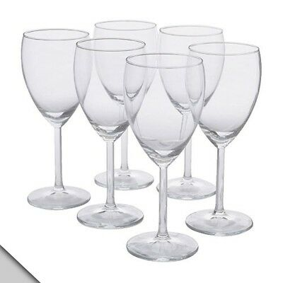 IKEA - SVALKA White wine glass, clear glass, H:17.8cm (X6). Shipping Included