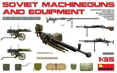 Miniart 1:35 Armamenti Sovietici Soviet Machineguns And Equipment  Art 35255