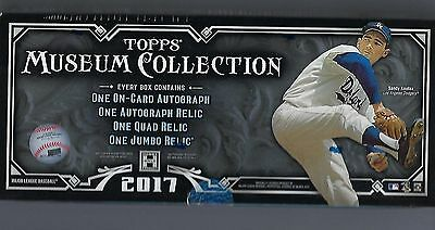 2017 Topps Museum Collection Baseball Hobby Box Factory Sealed New
