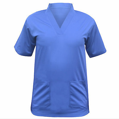 Scrub Medical Uniform Top Women Men Tunic Nurse Hospital Set Trouser Work Wear