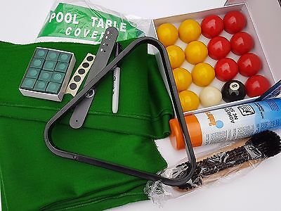 Pool Table Recover Kit With Green Strachen Speed Cloth. For 7x4 UK Tables