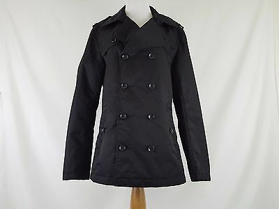 ESPRIT Black Double Breasted Trench Coat Jacket Women's Sz S NWT $159.99