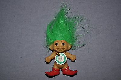 "~ 3"" Russ Christmas Elf Merry Little Trolls W/tag Collectible Trolls Dolls 4 ~"
