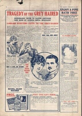 1916 Edwards Astol Cremex Bath Bottle Hair Shampoo Ad8057
