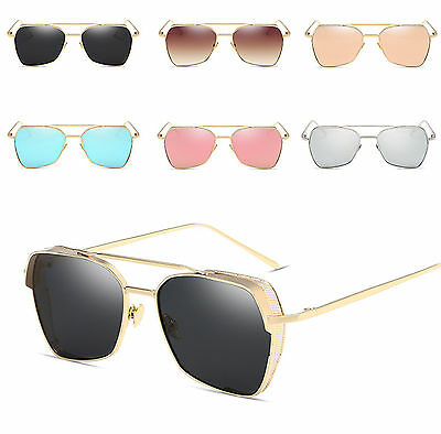 Steampunk Blinder Cyber Square Frame Mirror Lens Goggles Polarized Sunglasses