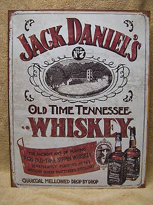 Jack Daniels Whiskey Tin Metal Sign Bar Sippin Alcohol NEW