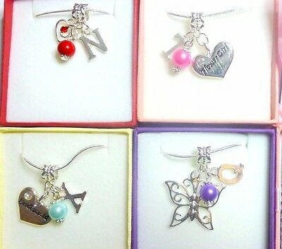 Wedding Bridal Gift Bridesmaid Flower Girl Necklace Heart Butterfly Birthday