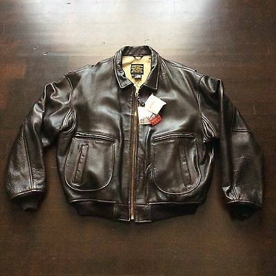 Vintage 1992 Avirex G-2 Military Brown Leather Flight Jacket Mens XXL USA