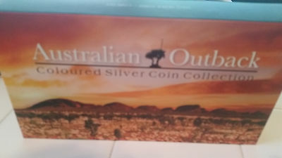 2015 Australian Outback 3-coin colored silver proof set Beautiful!!