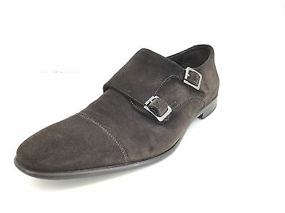Calibrate Men's Double Monk Strap In Brown Suede Size 10