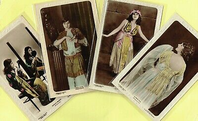 LILYWHITE - 1920s Silent Film Star Colour Postcards #CM408A to #CM423F