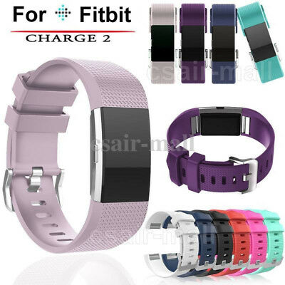 Soft Sports Silicone WatchBand Strap Replacement Bracelet For Fitbit Charge 2