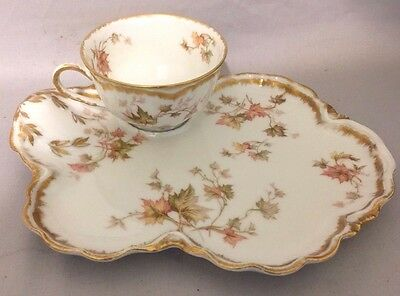 Vintage Haviland and Co. Limoges Snack Set Tea Cup and Toast Plate