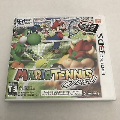 Mario Tennis Open (Nintendo 3DS, 2012) New Factory Sealed Super